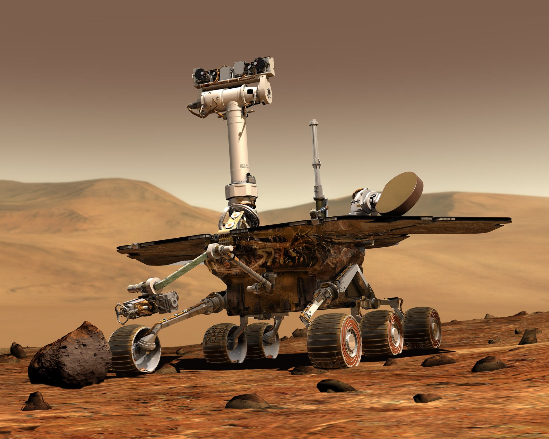 Rover on Mars